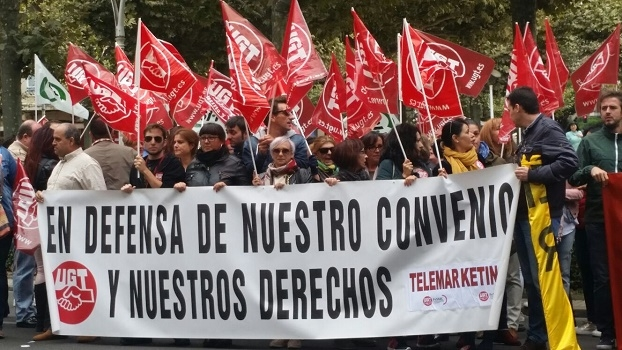 65% de seguimiento en los paros de Contac Center en Castilla y León