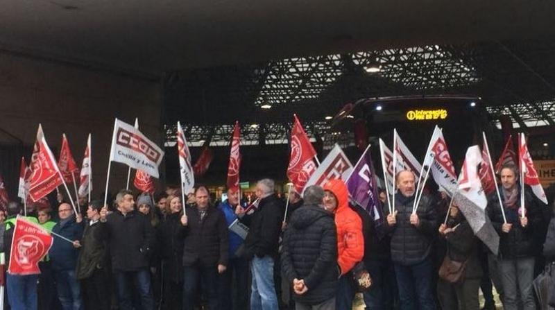 La asamblea de trabajadores de transportes de Burgos ratifica el preacuerdo de convenio