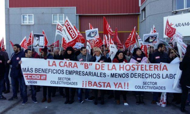 200 trabajadores de la restauración social reclaman sus derechos